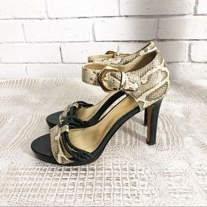 Coach Womens Braided Snake Print Sandals